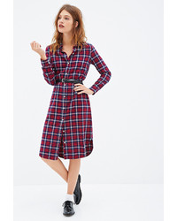 Plaid flannel shirt dress medium 123056
