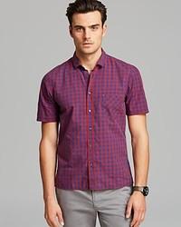 Hugo Boss Boss Orange Ezippoe Check Short Sleeve Sport Shirt Classic Fit