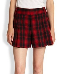 Snl high waist plaid shorts medium 124540