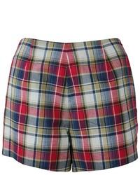 Troubadour Plaid Print Side Zip Shorts