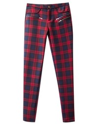 Chicnova plaid slim fit leggings medium 158208