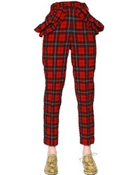 Simone rocha plaid wool blend seersucker pants medium 158209