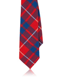 Alexander Olch Plaid Wool Melton Necktie