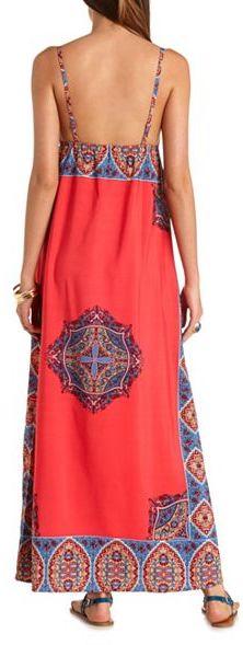 998f3d3fcb29 Charlotte Russe Scarf Print Empire Waist Maxi Dress, $26 | Charlotte Russe  | Lookastic.com