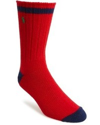 Red and Navy Socks