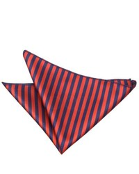 Red and Navy Vertical Striped Pocket Square