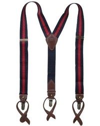Tommy Hilfiger 32mm Stripe Suspender With Clip And Button End With Strap