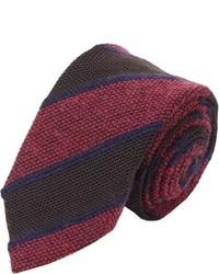Drakes Drakes Textured Stripe Neck Tie