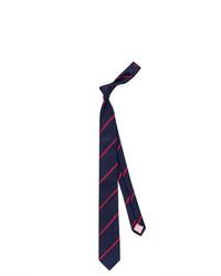 Thomas Pink Club Stripe Skinny Tie