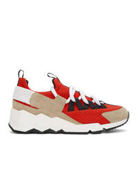 Pierre Hardy Red Trek Comet Sneakers