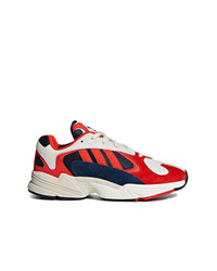 adidas Red White And Black Yung 1 Suede Leather And Cotton Sneakers