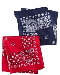 Merona 2pk Bandana Handkerchief Assorted Colors