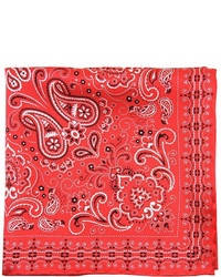 The Tie Bar Silk Bandana Red