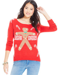 Sweater project juniors intarsia christmas sweater medium 123811