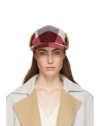 Rag and Bone Red And White Plaid Pilot Cap