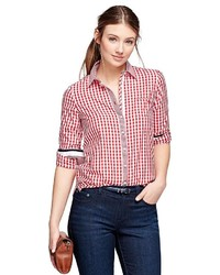 Brooks brothers cotton gingham shirt medium 347410