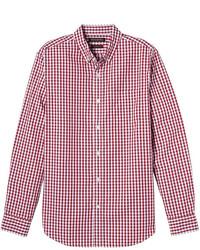 Banana Republic Camden Standard Fit Cotton Stretch Gingham Oxford Shirt