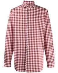 Barba Check Print Cotton Shirt