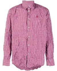 Martine Rose Textured Check Long Sleeve Shirt