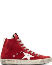 Cranberry suede francy high top sneakers medium 211759