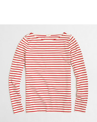 J.Crew Factory Long Sleeve Striped Boatneck T Shirt