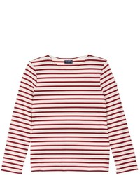 Saint James Minquiers Moderne Stripe Unisex Long Sleeve T Shirt