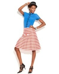 Made fashion week for impulse striped skirt medium 92813