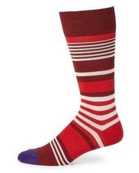 Paul Smith Ecru Stripe Knitted Socks