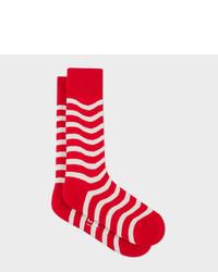Paul Smith Red Wobble Stripe Socks