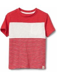 Gap Chest Stripe Crewneck T Shirt