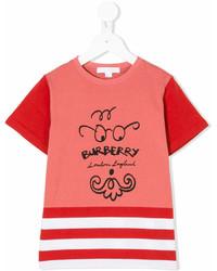 Burberry Kids Logo Printed T Shirt