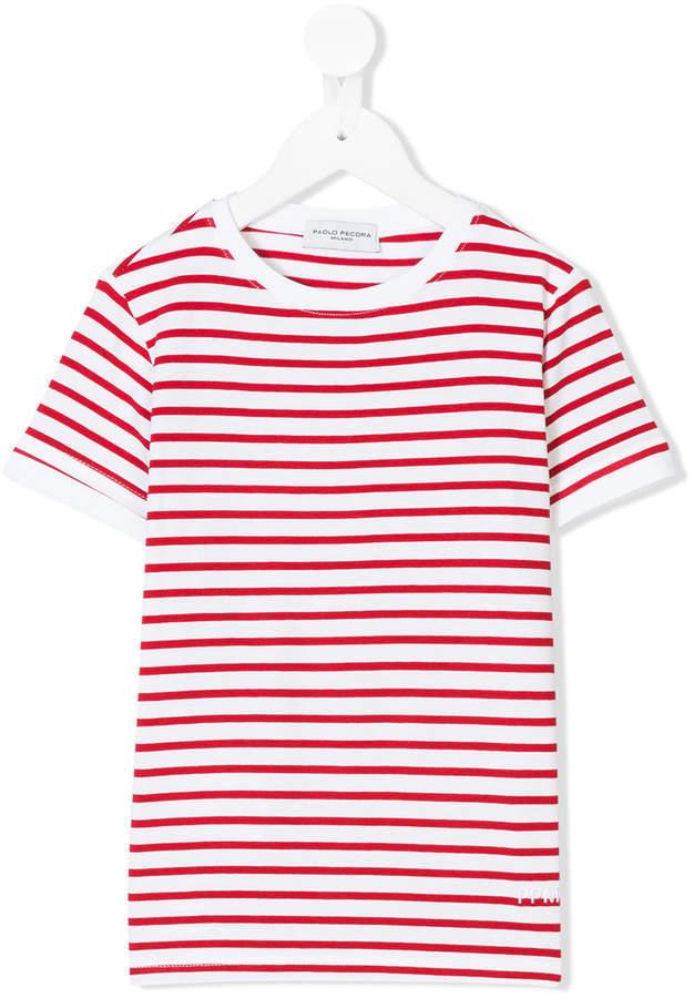 Paolo Pecora Kids Striped Short Sleeve T Shirt