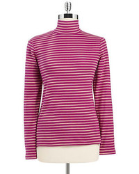 J striped mock turtleneck top medium 157753