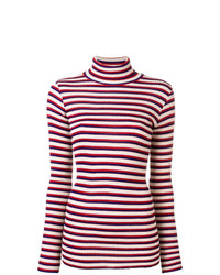 Red and White Horizontal Striped Sweaters for Women  cc9a69d24