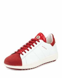Moncler Mr Bicolor Low Top Sneakers Whitered
