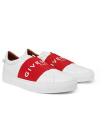 Givenchy Urban Street Logo Print Leather Slip On Sneakers