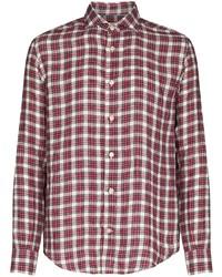 Eleventy Check Pattern Buttoned Shirt