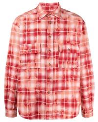 PACCBET Check Print Cotton Shirt
