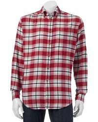 Classic fit plaid flannel button down shirt medium 1343070