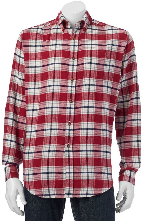 croft & barrow Classic Fit Plaid Flannel Button Down Shirt | Where ...