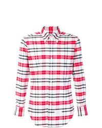 Classic long sleeve oxford shirt in large tartan check medium 8387612