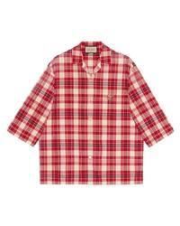 Gucci Freya Hartas Animal Embroidered Check Shirt