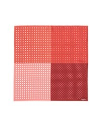 Red and White Pocket Square
