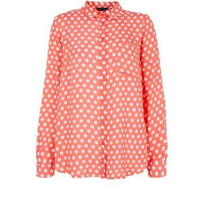 Asos fashion finder t165 red white polka dot top male for White red polka dot shirt