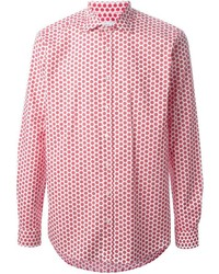 Red and White Polka Dot Long Sleeve Shirts for Men | Men's Fashion