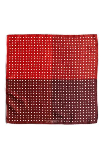 J.Z. Richards Polka Dot Pocket Square Red One Size