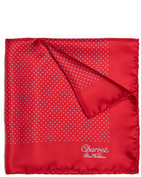 Charvet Polka Dot Silk Pocket Square