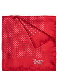 Charvet Polka Dot Silk Pocket Square