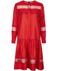 Silk polka dot dress medium 197368