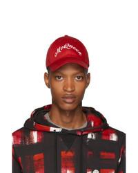 Alexander McQueen Red Americana Cap